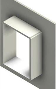 Стальная рама G 4x1 W Ex PRIMED