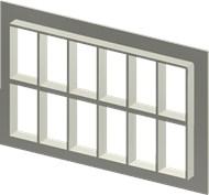 Алюминиевая рама SF 6+6x6