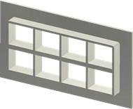Стальная рама SF 2+2x4 W Ex AISI316