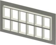 Алюминиевая рама SF 4+4x6