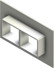 Стальная рама G 2x2 W Ex PRIMED