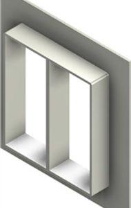 Стальная рама G 8x2 W Ex PRIMED