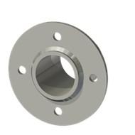 Гильза стальная с фланцем SLFRS 43 52/44-65мм AISI 316