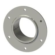Гильза стальная с фланцем SLFRS 100 114/101-65мм AISI 316