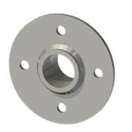 Гильза стальная с фланцем SLFRS 31 40/31,5-35мм AISI 316