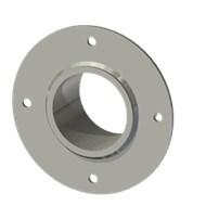 Гильза стальная с фланцем SLFRS 75 89/76,5-65мм AISI316