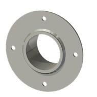Гильза стальная с фланцем SLFR 70 83/71,5-55мм AISI 316
