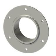 Гильза стальная с фланцем SLFR 100 114/101-55мм гальв.