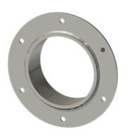 Гильза стальная с фланцем SLFR 127 140/128-55мм гальв.