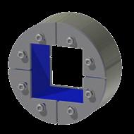 Набор резино-металл. зажима R 125 W Ex AISI 316/AISI 316