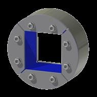 Набор резино-металл. зажима R 150 W Ex AISI 316/AISI 316