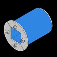 Резино-метал. зажим R 50 AISI 316 в комплекте