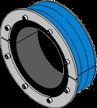 Резино-метал. зажим RS 200 AISI 316 woc в комплекте