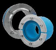 Набор резино-метал. зажима RS X 200 AISI 316 woc/galv