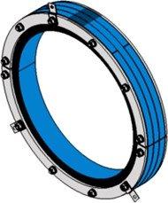 Резино-метал. зажим RS 500 AISI 316 woc в комплекте