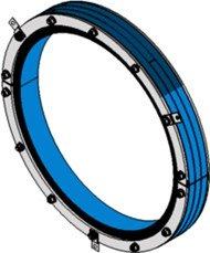 Резино-метал. зажим RS 600 AISI 316 woc в комплекте