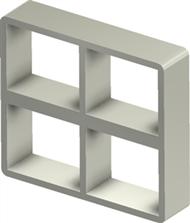 Алюминиевая рама S 2+2x2