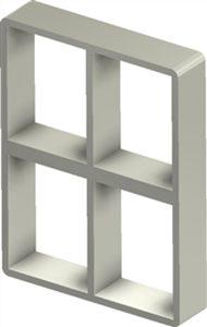 Алюминиевая рама S 4+4x2