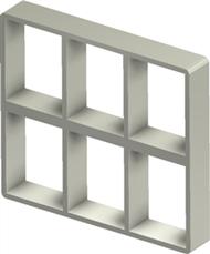 Алюминиевая рама S 4+4x3