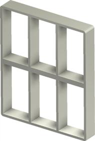 Алюминиевая рама S 6+6x3