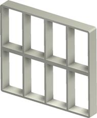 Алюминиевая рама S 6+6x4