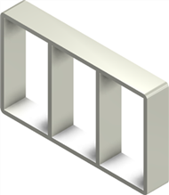 Алюминиевая рама S 6x3