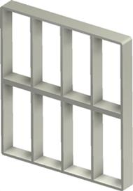 Алюминиевая рама S 8+8x4