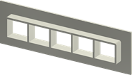 Алюминиевая рама SF 2x5