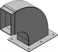 Конструкция со встроенной рамой для установки на крыше зданий Swan Neck 6x1, оцинкованная сталь