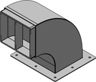 Конструкция со встроенной рамой для установки на крыше зданий Swan Neck 6x2, оцинкованная сталь в комплекте с лентой TSL