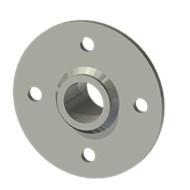 Гильза стальная с фланцем SLFRS 25 34/25,5-35мм AISI 316