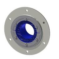 Набор резино-метал. зажима RS 125 B Ex AISI 316 woc/primed