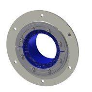 Набор резино-метал. зажима RS 150 B Ex AISI316 WOC/GALV