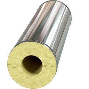 Цилиндр минераловатный в оцинкованной оболочке Pipewool Zn