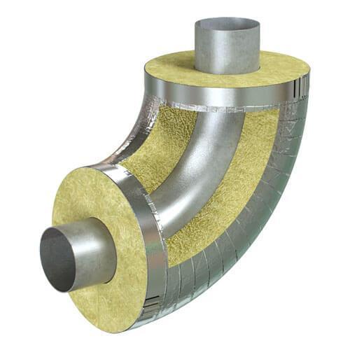 Отвод кашированный алюминиевой фольгой Pipewool