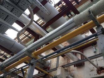 Изоляция трубопровода на объектах