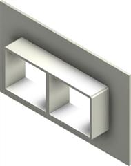 Стальная рама G 2x2 W Ex AISI316