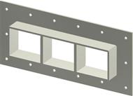 Стальная рама GHM 2x3 AISI316 в комплекте с лентой TSL 15×6