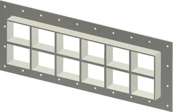 Стальная рама G 2+2x6 Ex galv